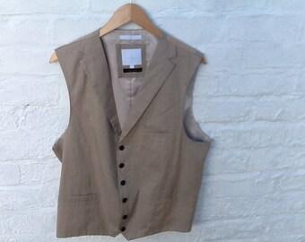 Jeff Banks linen waistcoat