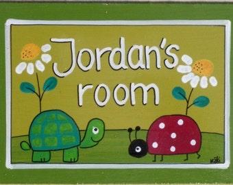 Personalized Handpainted Door Sign For Children's Room