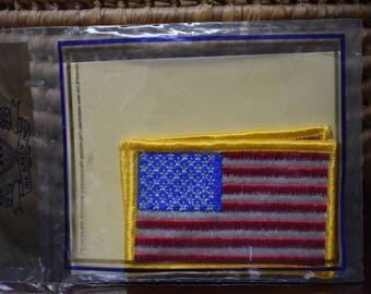 USA Flag Patches - Set of Two