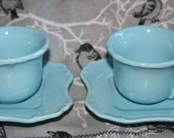 Demitasse/Espresso Cups & Saucers -Laugarte China made in Portugal (2)