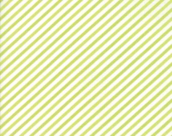 VINTAGE HOLIDAY Bonnie & Camille Vintage Christmas Bias Candy Stripe Light Green 1 Yard Moda Fabric