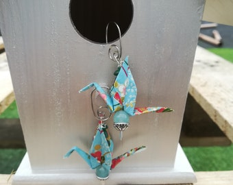 origami Japanese paper earrings