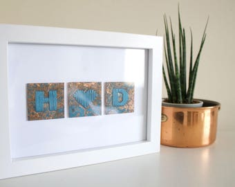 Personalised Copper Tiles - Framed