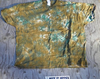 Along The Riverbanks Scrunch Tie Dye T-Shirt (Fruit of the Loom Size 3XL) (One of a Kind)