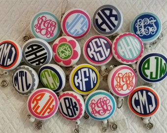 Perfect present monogrammed badge reel id holder badge pull treat yourself to a monogrammed badge reel id holder badge pull teachers nurses students lawyers business solutioingenieria Image collections