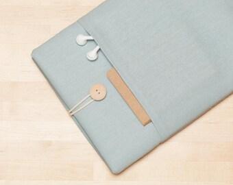 iPad 12.9 sleeve, iPad Pro 12.9 case, 12.9 inch iPad Pro case,  iPad Pro cover - Dusty blue