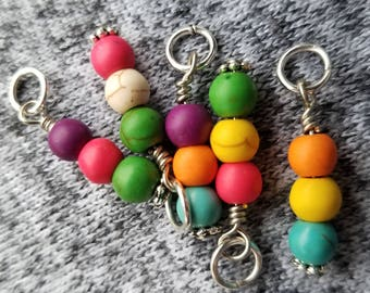 Stitch Markers. Set of 5 markers.