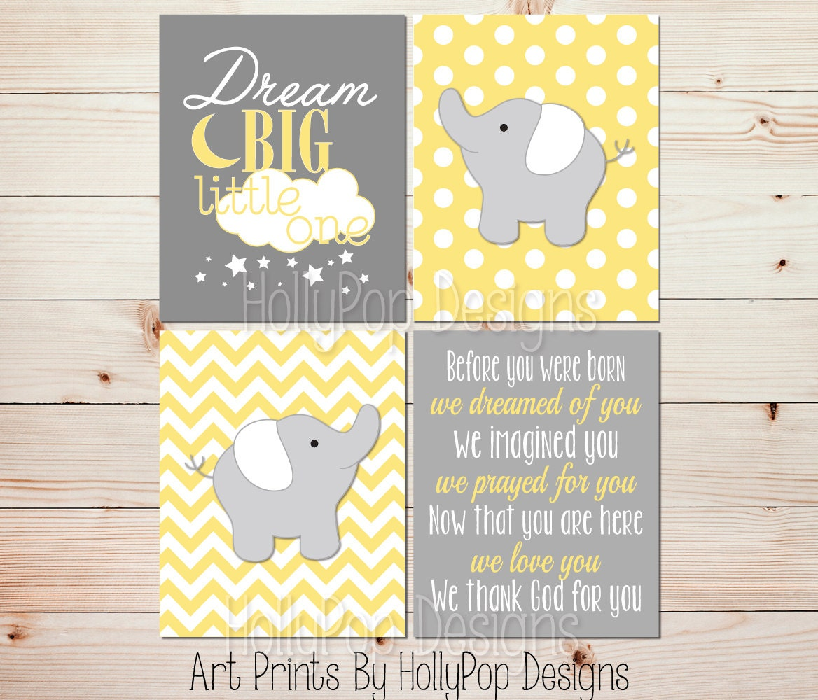 Kids room decor Yellow gray nursery art Before you were born