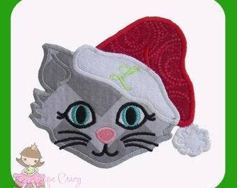 Christmas Kitty Applique design