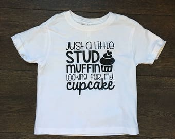 Stud muffin tee, kids graphic tee, boys graphic tee, tshirt, boys clothing, boys shirt, baby clothing
