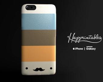Happy Moustache Vintage Stripes Case iPhone 6 Case iPhone 6S case iPhone 5 stripes case iPhone 5 kawaii case Samsung Galaxy kawaii case