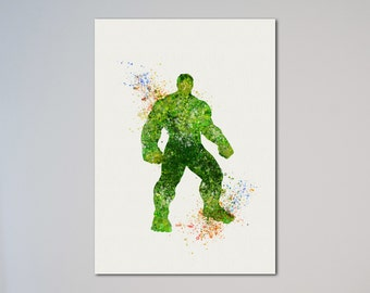 Hulk Poster Watercolor Print The Avengers The Incredible Hulk
