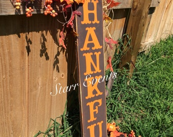 Fall decorations. Fall signs. Thankful sign. Great fall decor. Thanksgiving decorations. Wooden Porch signs. Fall porch signs. Autumn decor.