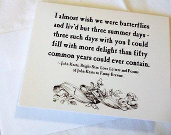 John Keats Notecard