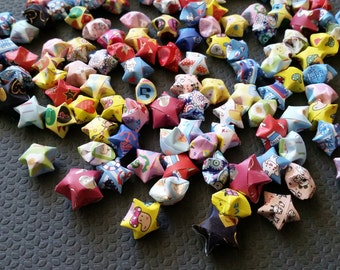 300 Handmade Origami Lucky Stars - assorted patterns