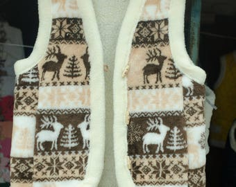 Vests from natural sheep wool