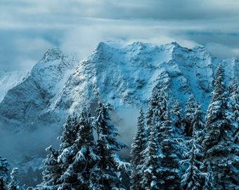 Winter Wonderland in Washington    Pacific Northwest Photography   Print   Metal, Canvas, or Lustre