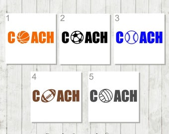 Sports Coach Decal, Coach Decal, Gift for Football Coach, Basketball Coach, Baseball Coach Decal, Coach Tumbler Decal, Soccer Coach Decal