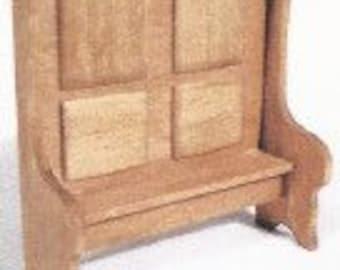 "1/2"" Scale Miniature Settle Bench Kit"