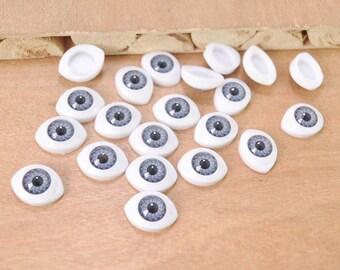 Free shipping!10pair Gray Eyeball Cabochons,Doll Eyes,Doll Eyes Plastic,Eyes Craft,Eyes Flat Back,doll eyes supplies 14x19mm