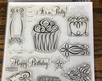 D1497 It's a Party - CTMH My Acrylix Stamp Sets