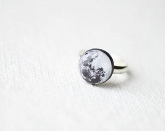 Pleine lune bague - bijou de l'astronomie - espace