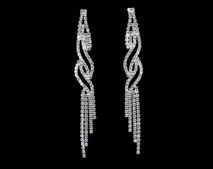 Whitney Clear Crystal NPC Bikini Fitness Competition Earrings