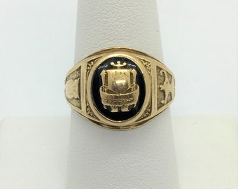 1948 14k Yellow Gold Class Ring Vintage Estate 7.8 grams Size 8.75