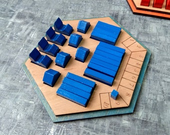 piece holders, Settlers of Catan piece holders, Catan, Catan Game Board, wood