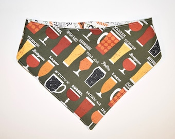 What's on Tap?/Beer, Reversible Dog Bandana, Snap Closure Bandana