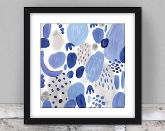Abstract Print, Underwater Ocean, Nautical Wall Art, Coral Reef, Abstract Art Print