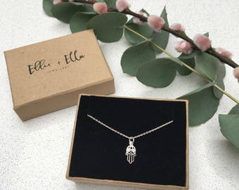 Sterling Silver Little Hamsa necklace