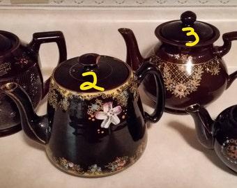 Vintage Redwear Brown Teapots
