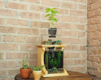 Aquaponic Planter, Aquaponic Garden, Herb Garden, Home Garden, Indoor planter