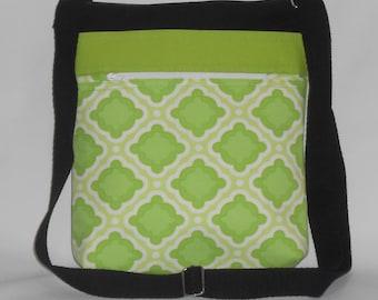 Bright Green and Black Crossbody Bag