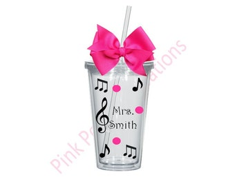 Music Teacher, Music Teacher Cup, Music Teacher Gift, Music Notes Cup, Music Notes, Music Gifts, Music Teachers, Teacher Cup, Tumbler Cup