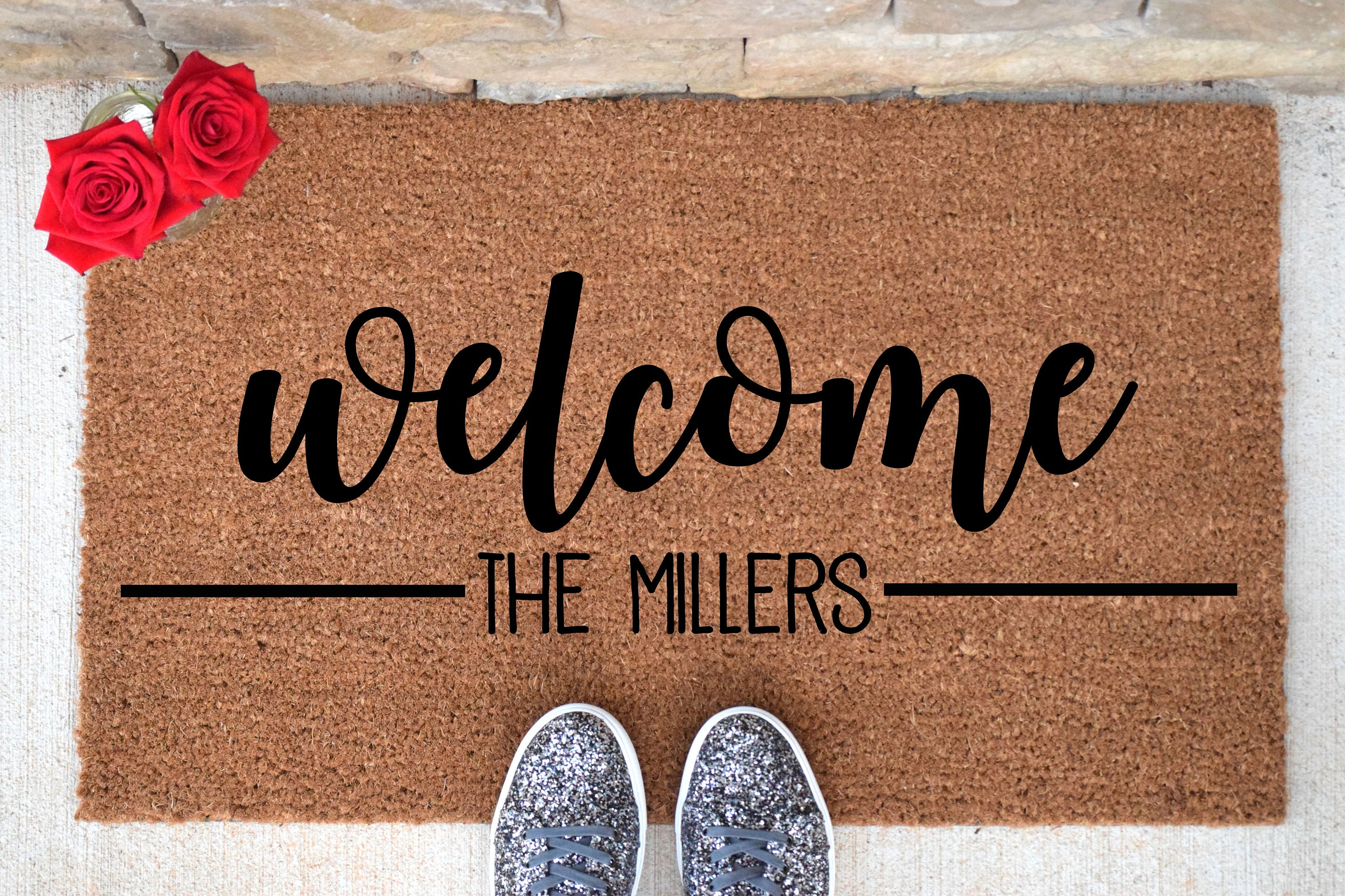 here voucher redeem offers monogram state your mat pin welcome groupon personalized home special mats doormat