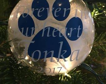 Pet Memorial Ornament - Personalized