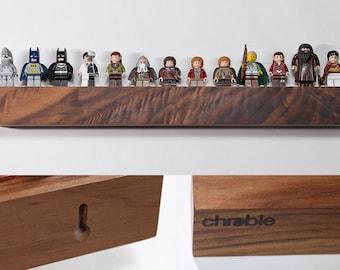 Hardwood Shelf for 13 to 17 Lego Minifigs