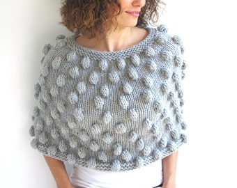 Pop Corn Gray Capalet Cowl by Afra