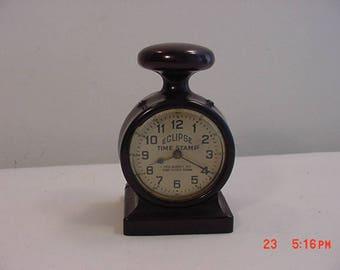 Vintage Eclipse Time Stamp Clock  17 - 713