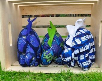 Nerdisaurus Handmade Handsewn Doctor Who Tardis Bigger on the Inside Stuffed Stegosaurus Dinosaur Whovian Fandom Nerd Geek Toy