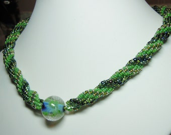 PATTERN Double DNA necklace lampwork focal