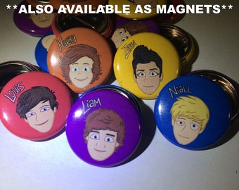 One Direction | The Adventurous Adventures of One Direction | 1-inch Buttons