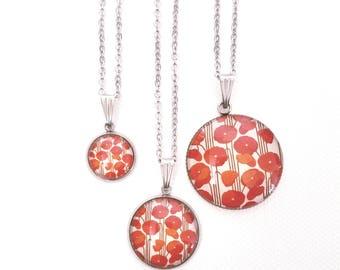 Red poppy necklace Personalized poppy jewelry Poppy jewellery Personalized gift necklace Gift for her Bridesmaid gift Personalized necklace