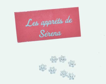 50 beads 5 mm Tibetan silver stars