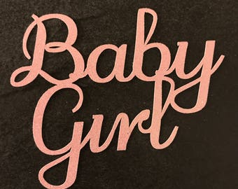 Cake topper - Baby girl - Baby Shower