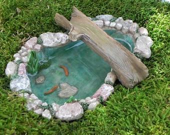 Miniature koi pond etsy for Artificial koi fish for ponds