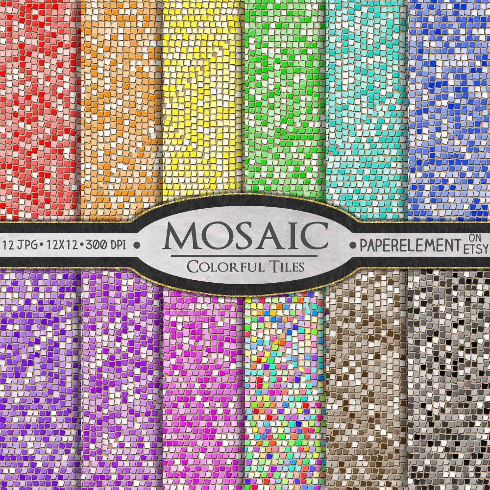 mosaik digitalem papier glas fliesen mosaik muster mosaik. Black Bedroom Furniture Sets. Home Design Ideas