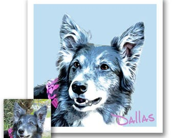 Custom Pet Portrait - Featuring Your Dog - Custom Dog Portrait - Pet Lover Gift - Custom Pet Memorial - Dog Memorial - Gift for dog owners